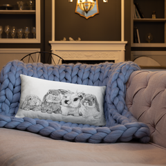 Bunny Bunch Rectangular Pillow