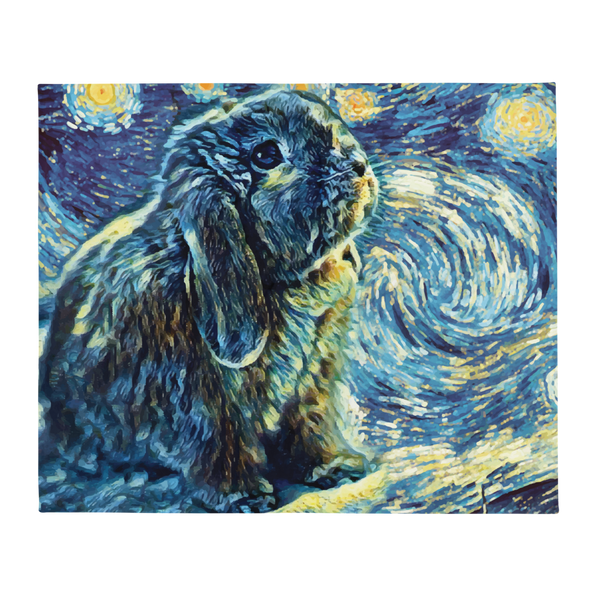 Starry Bunny Throw Blanket