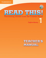 Read This! Level 1 Teacher's Manual with Audio CD Fascinating Stories from the Content Areas