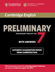 Cambridge English Preliminary 7 Student's Book with Answers