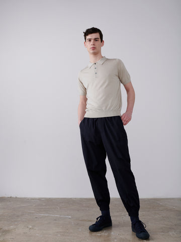Arieta Knitted Polo In Bone