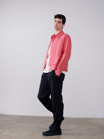 Meno Overlap Shirt In Barragan Pink