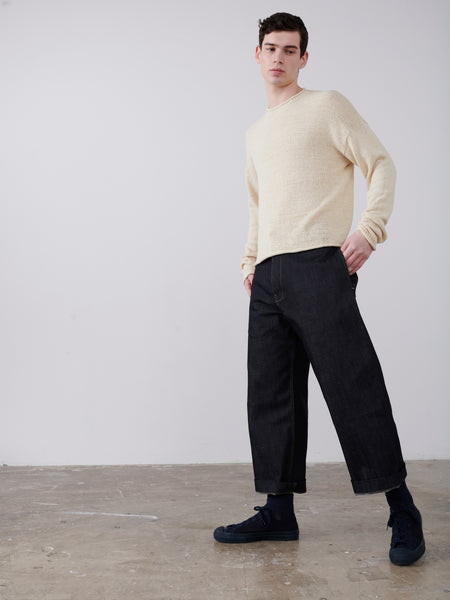 Chiuso Ribbon Knit In Cream - Studio Nicholson