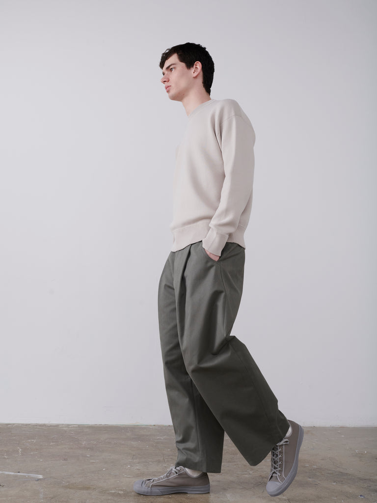 Ben Volume Pant in Lead - Studio Nicholson