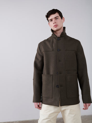 Meile Donkey Coat In Forest Green