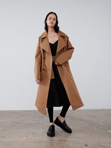 Ortiga Coat in Tan