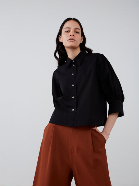 Bahia Shirt in Black - Studio Nicholson