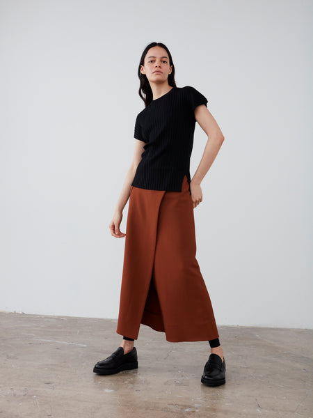 Bude Skirt In Brick - Studio Nicholson