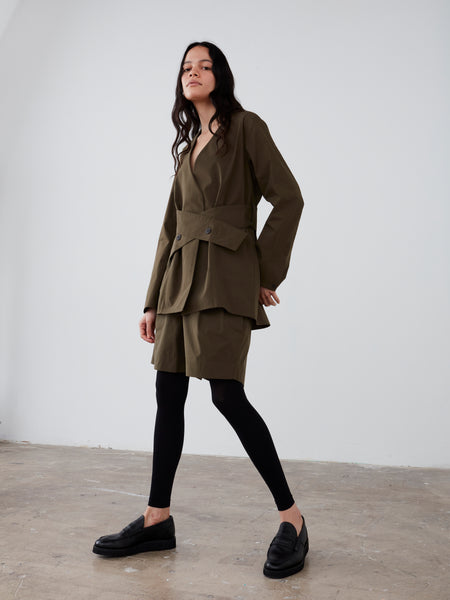 Ora Jacket in Olive - Studio Nicholson