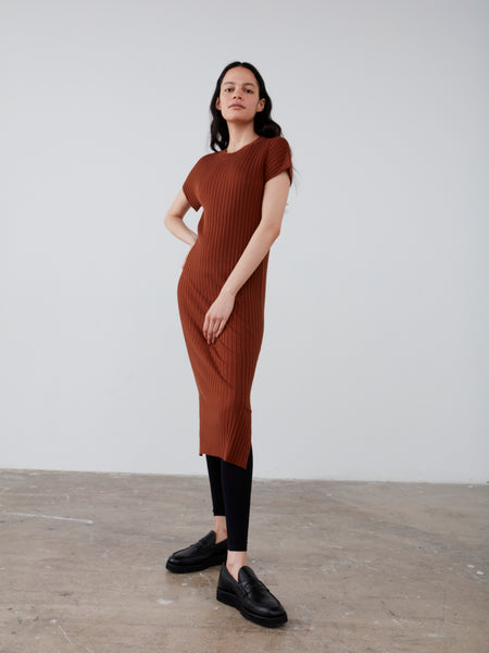 Pretoria Knit Dress in Brick - Studio Nicholson