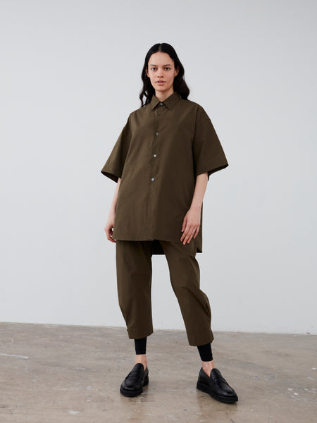 Tabasco Shirt in Olive - Studio Nicholson