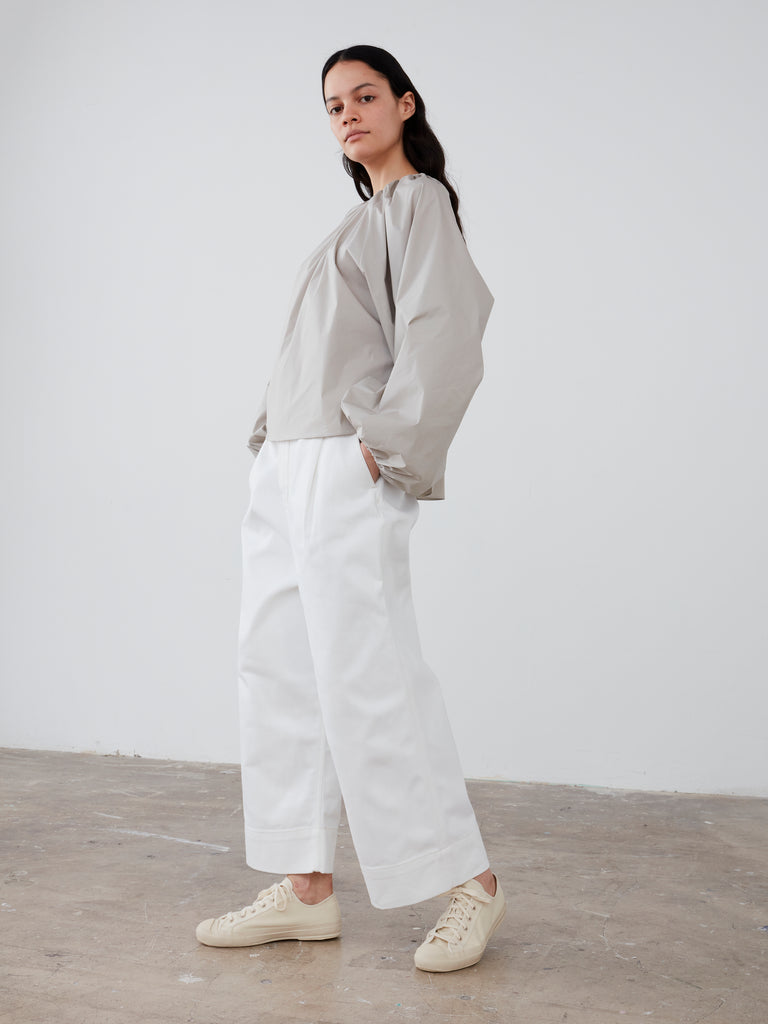 Greta Pant in Selvedge Denim Optic White - Studio Nicholson