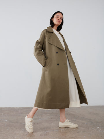 Ortiga Coat in Ash Green