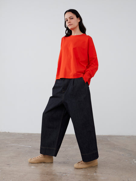 Loop Long Sleeve T-Shirt in Tomato - Studio Nicholson