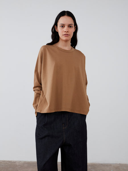 Loop Long Sleeve T-Shirt in Tan - Studio Nicholson