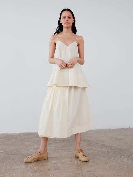 Fano Skirt in Winter White - Studio Nicholson