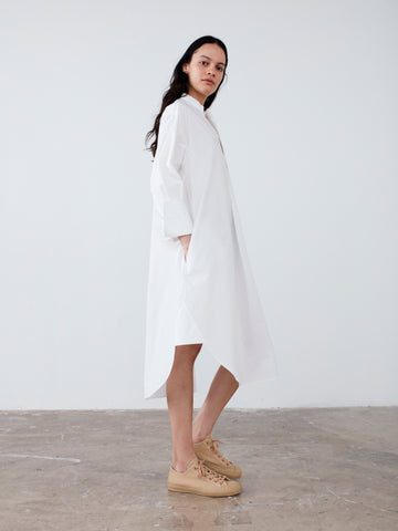 Galvan Shirt Dress In Optic White