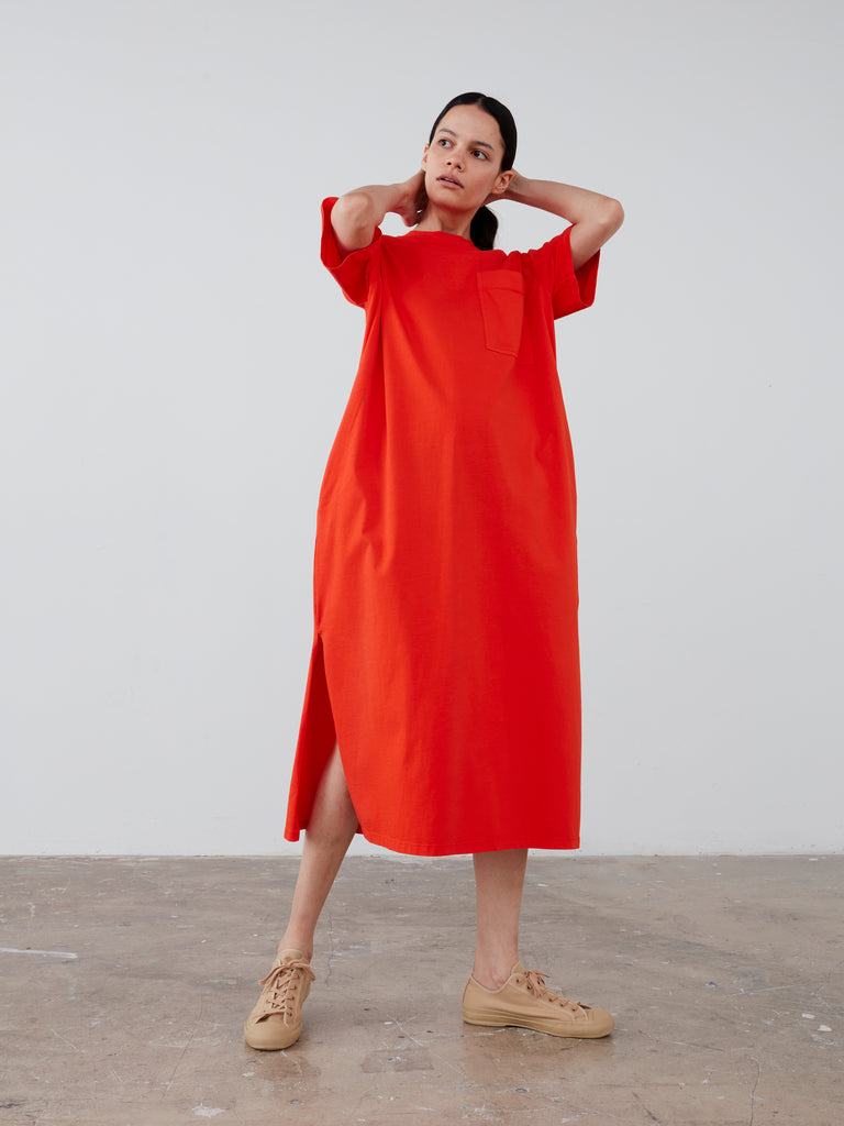 Boyd Jersey Dress in Tomato - Studio Nicholson