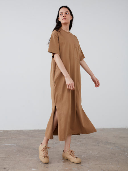 Boyd Jersey Dress in Tan - Studio Nicholson