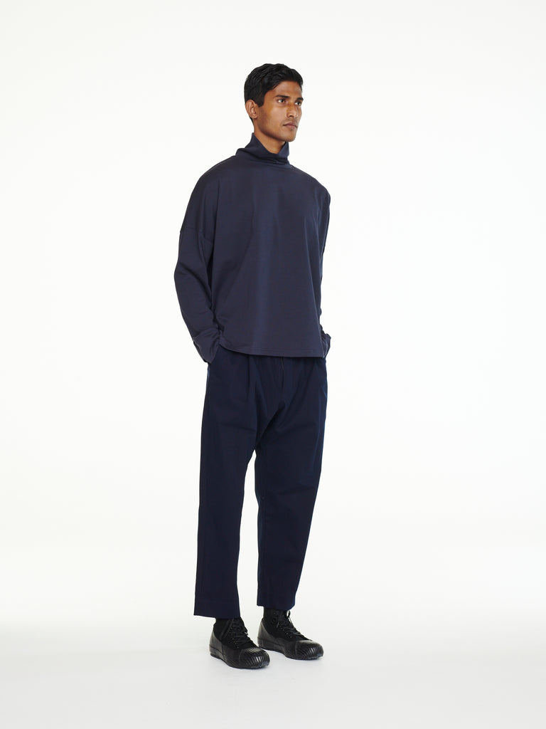 Gentile Pant In Dark Navy Organic Cotton