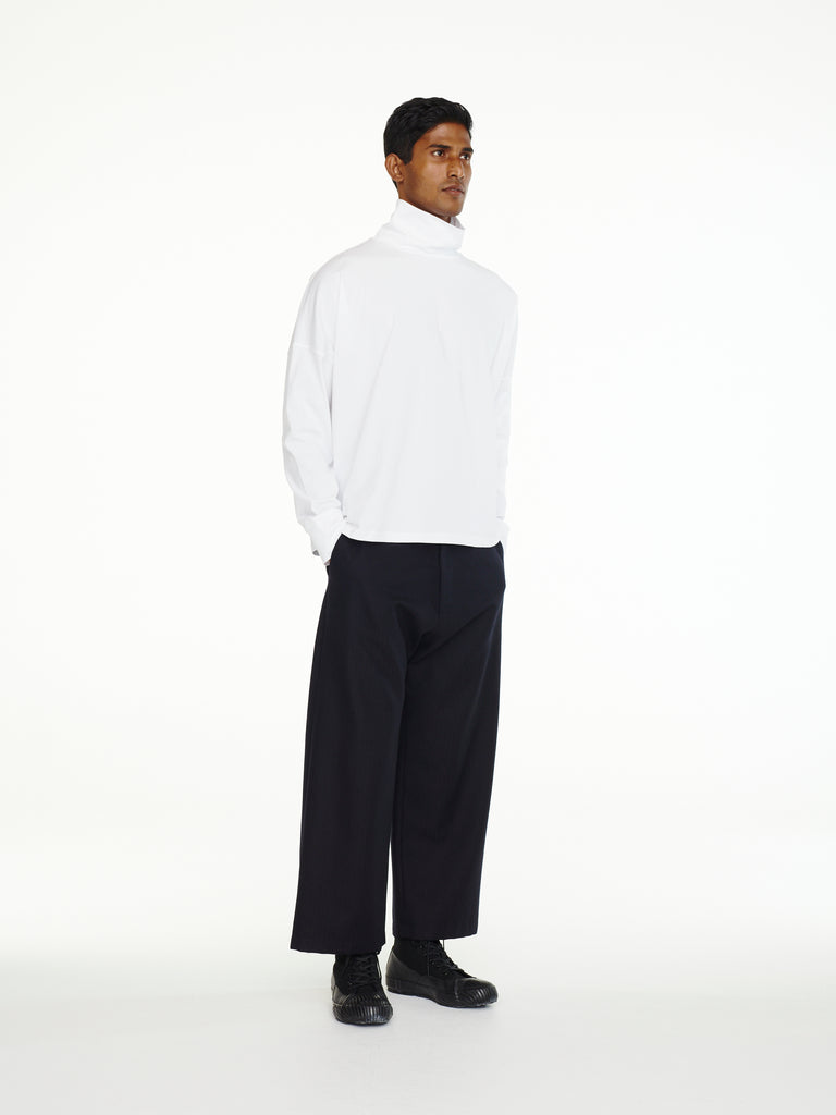 Boss Pant In Black Herringbone