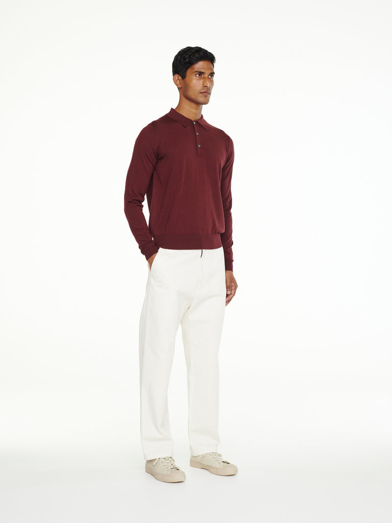 Pilote Knit Top In Beetroot