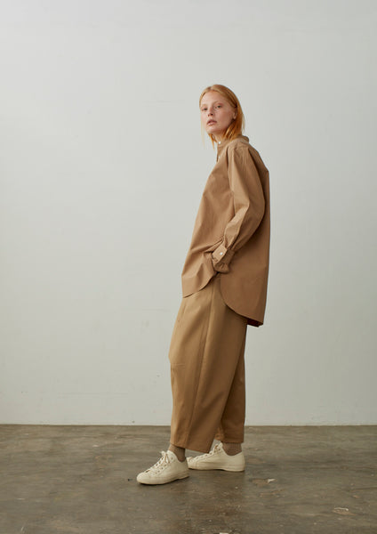 Air Pant In Tan Cotton Drill