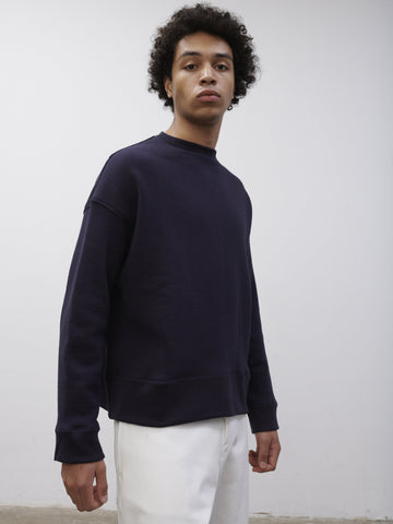 SNJP AKITA Sweatshirt In Loopback Dark Navy