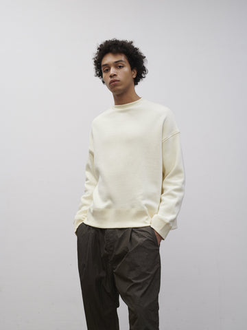 SNJP AKITA Sweatshirt In Loopback In Off White