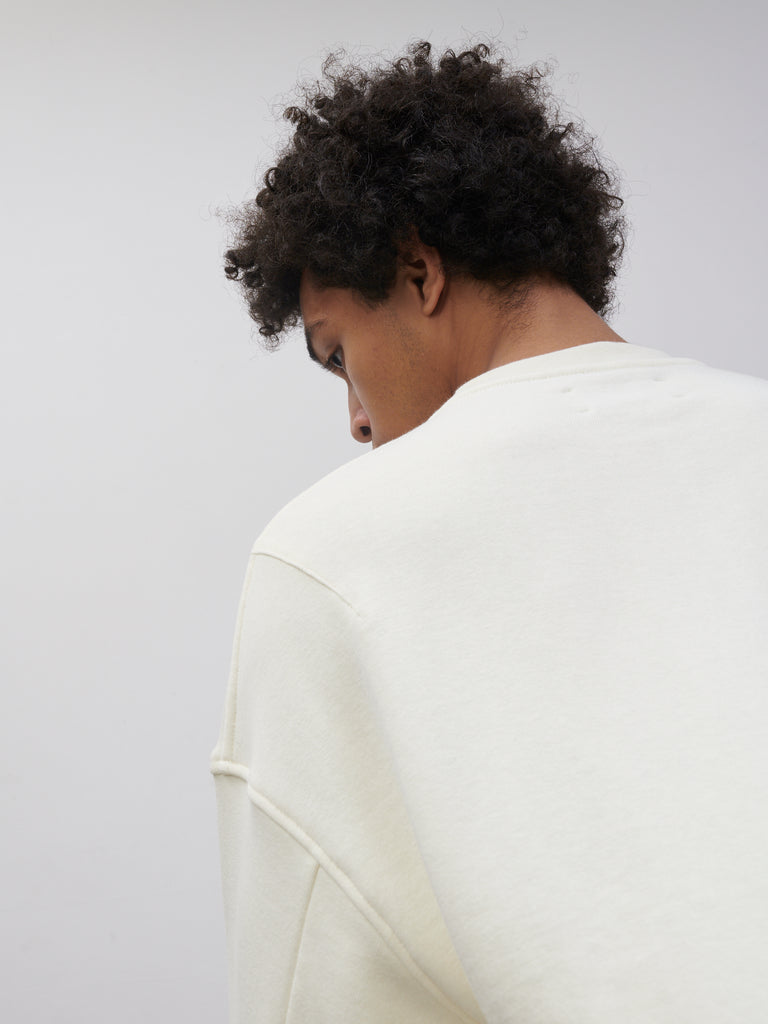 SNJP AKITA Sweatshirt In Loopback In Off White - Studio Nicholson