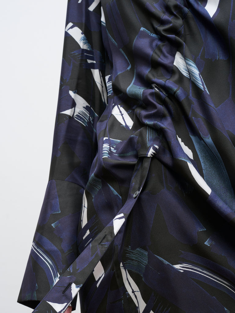 Amu Dress In Ink Print - Studio Nicholson