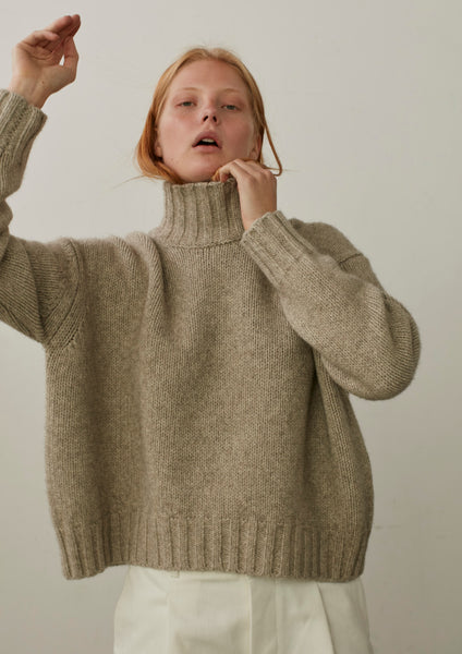 Arad Turtleneck Knit In Putty