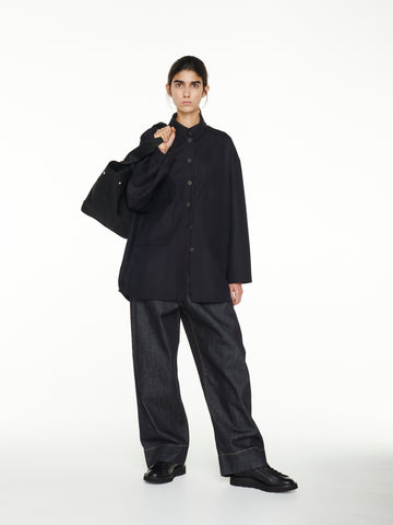 Bax Shirt Jacket In Dark Navy