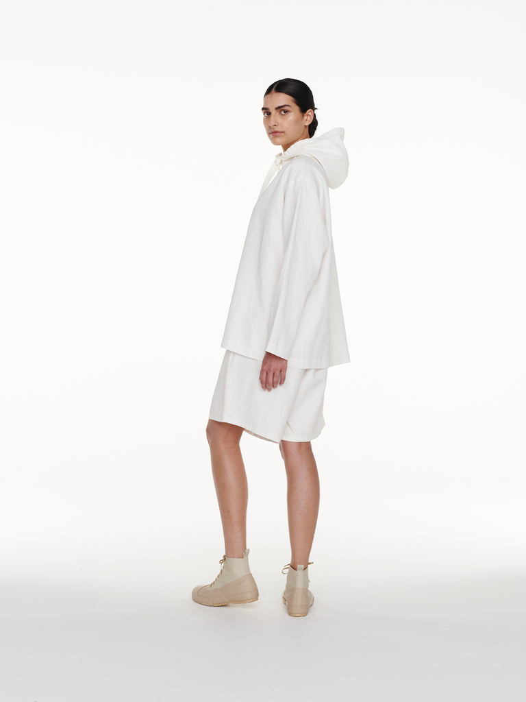 Belleri Hooded Shirt in Milk