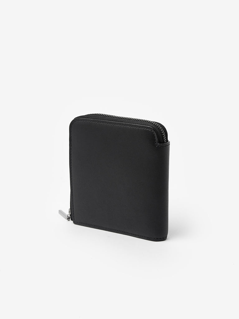 Zip Around Wallet in Black