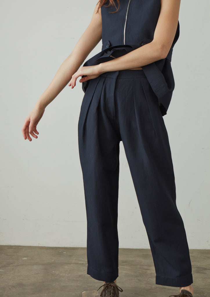 Bacci Pant In Dark Navy