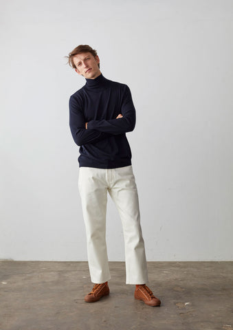 Bari Selvage Jean In Off White