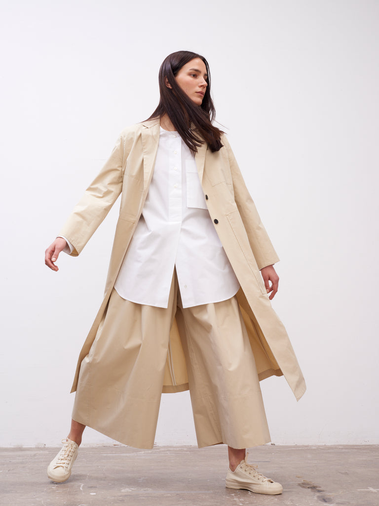 Baya Duster Coat In Sand - Studio Nicholson