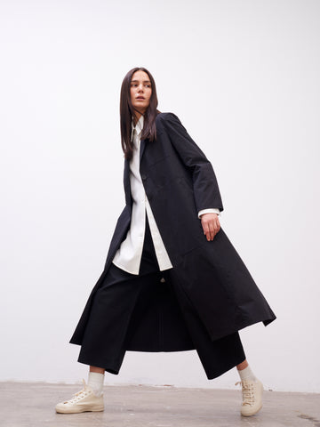 Baya Duster Coat In Black