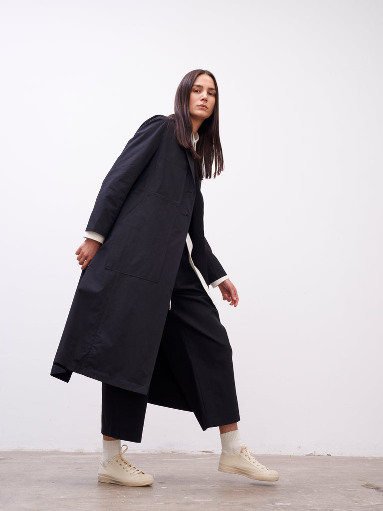 Baya Duster Coat In Black - Studio Nicholson