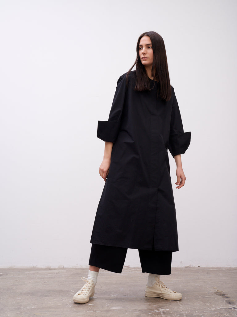 Becher Volume Dress In Black - Studio Nicholson