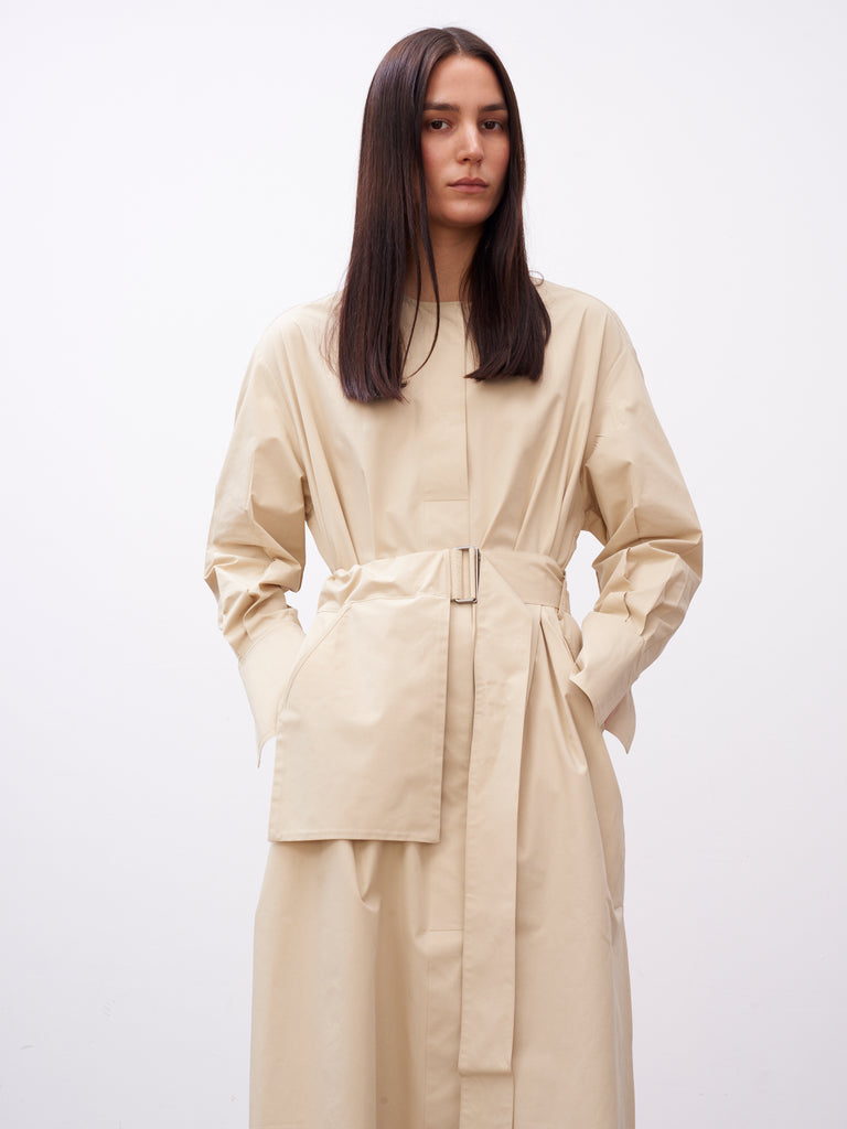 Becher Volume Dress In Sand - Studio Nicholson