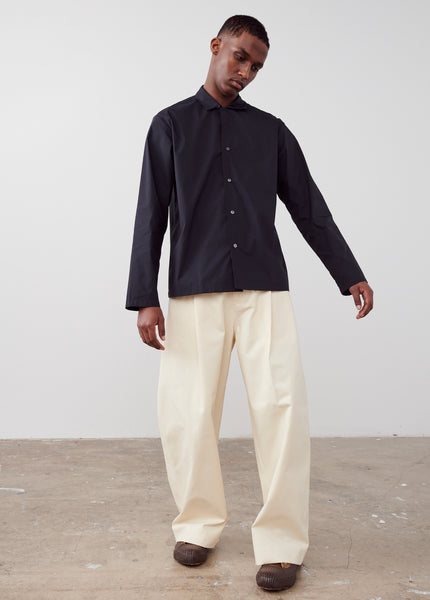 Ben Volume Pant In Cream - Studio Nicholson