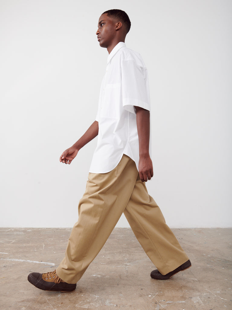 Ben Volume Pant In Tan - Studio Nicholson