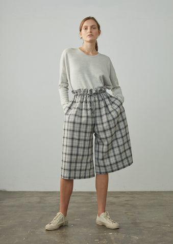 Bird Short In Grey Check