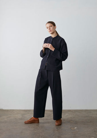 Bonnard Pant In Dark Navy Wool