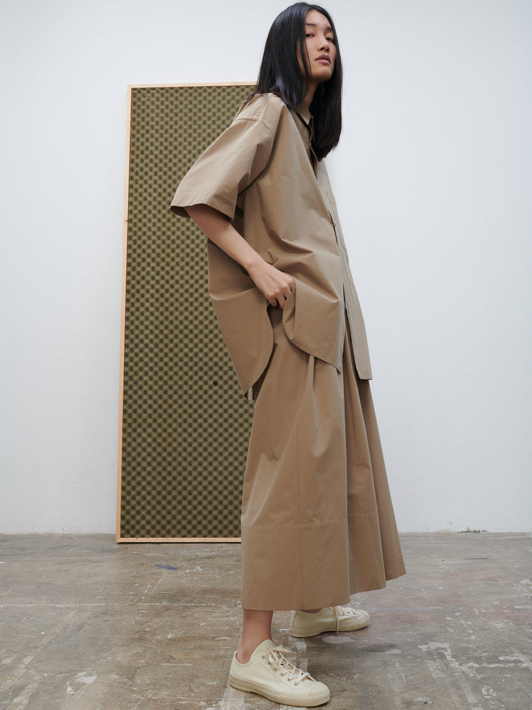 Bottle Pant In Tan - Studio Nicholson
