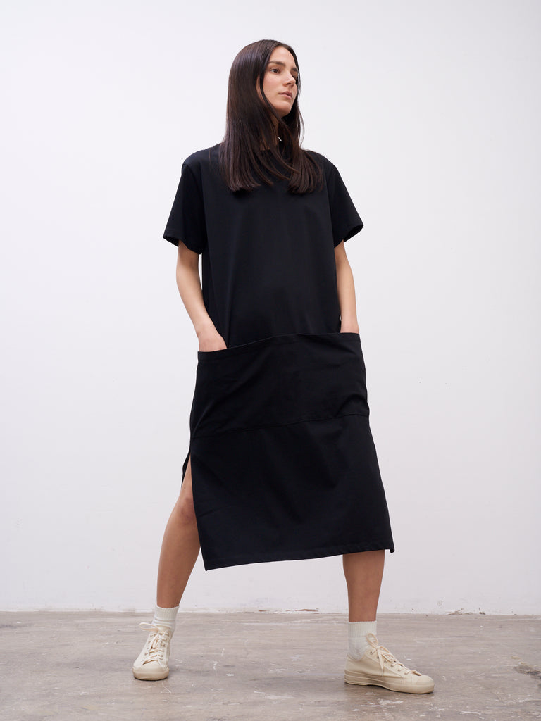 Boyd Jersey Dress In Black - Studio Nicholson