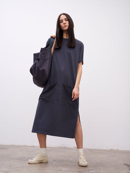 Boyd Jersey Dress In Graphite - Studio Nicholson