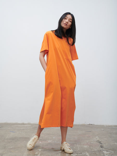 Boyd Jersey Dress In Saffron - Studio Nicholson